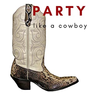 Cowboy boot - Western cowboy party theme for birthdays, wedding, baby shower, or fundraiser
