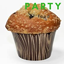 Muffin in wood-grain cupcake wrapper for woodsy bridal shower or lumberjack baby shower or birthday