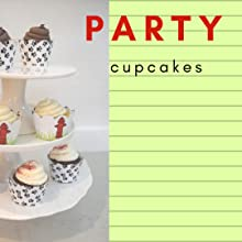 3 tier cupcake stand with fire hydrant and animal paw print cupcakes for fire hero, dog theme party