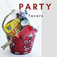 Bandana party favor - bag filled with party favors in western theme cupcake wrapper for b-day party