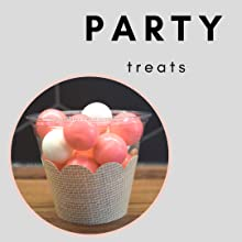 Cowgirl theme birthday party treats, pink candy in a cup with burlap party wrap for girls birthday