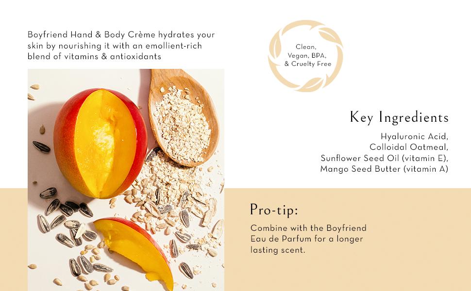 olloidal Oatmeal; Mango Seed Butter; Sunflower Seed Oil; Hyaluronic Acid, Clean Beauty, Kate Walsh
