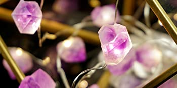 Decorative Lights Plus Amethyst LED String Lights Battery Operated with Remote
