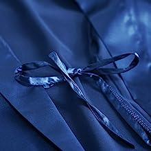 inner tie satin belt robe