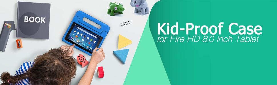 Fire HD 8 2016/2017/2018 Handle Kids Case