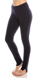 (2 Pack) Full-Length Cotton Stretch Leggings (BLK-BLU) : Urban Dictoin