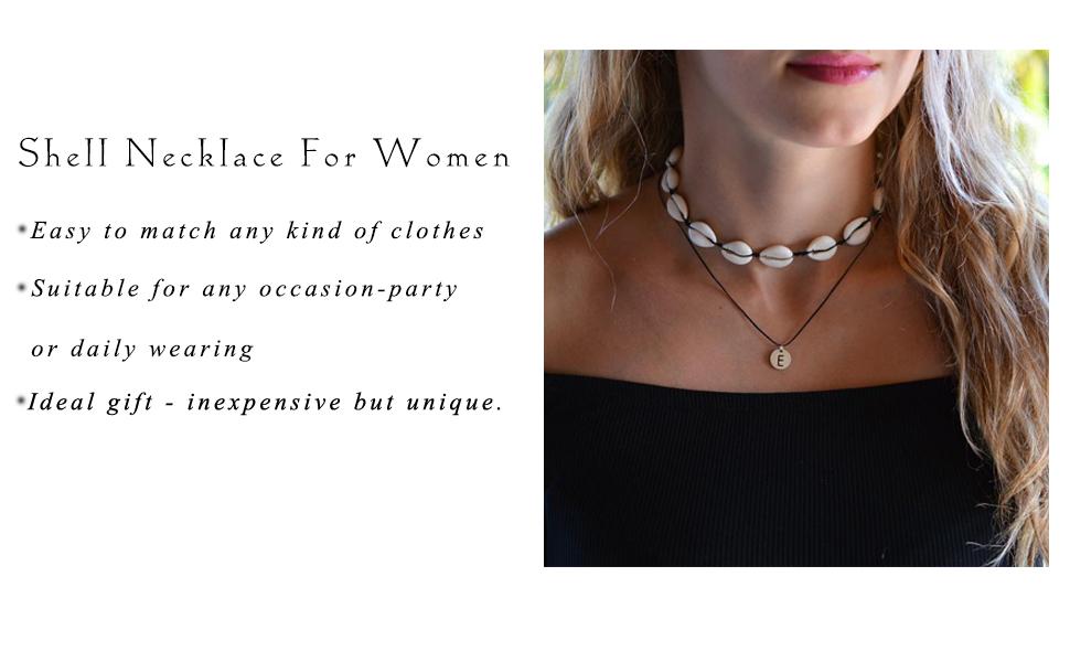 Shell leaf pendant sterling silver custom handmade womens teen trendy girls beach surf gift present two strand necklace