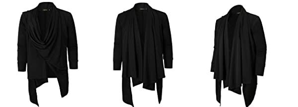 Men's Long Sleeve Irregular Hem Cardigan