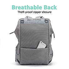 Diaper bag backpack for boys girls waterproof stroller straps multi function travel bag changing pad