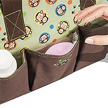 Diaper bag backpack for boys girls waterproof stroller straps multi function travel bag changing pad