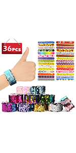 28 Printed slap Bracellets +  8 Mermaid Slap Bracelets