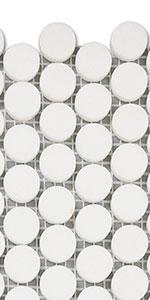 thassos white penny tile  7