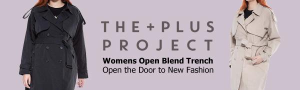 women open blend trench