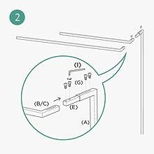 "ONF Square 24"" 36"" Aquarium Light Suspension System Light Hanging kit-STEP2"
