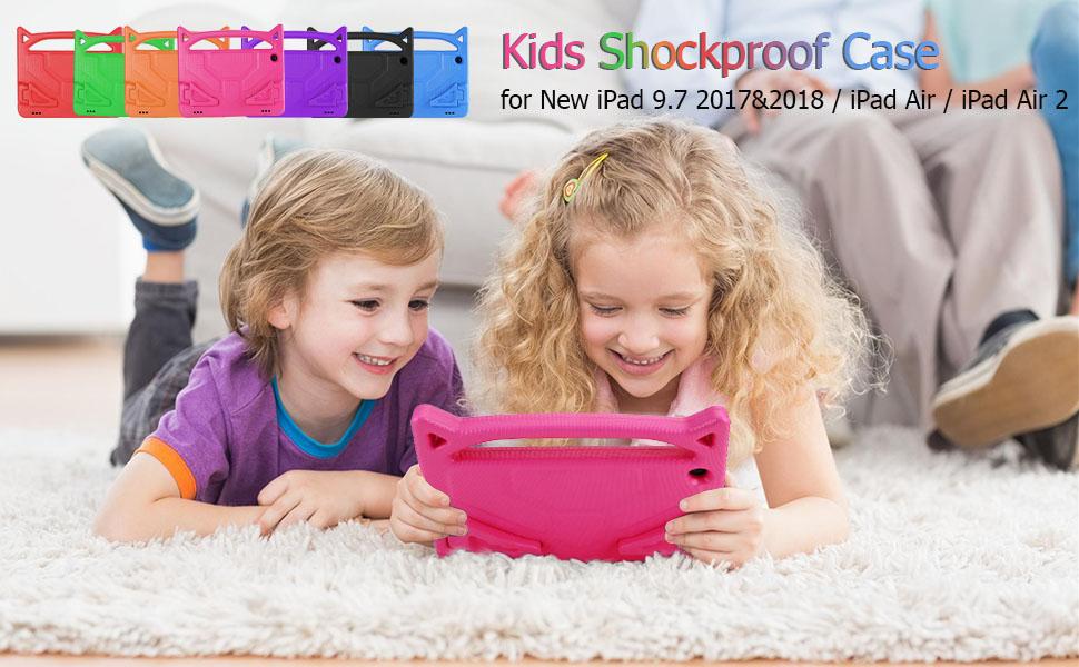 new ipad 2017/2018 case ipad air case kids