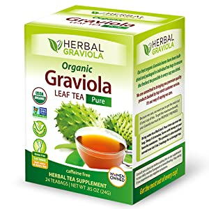 Herbal Papaya Graviola Soursop leaf tea