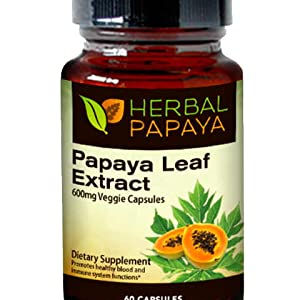 Papaya leaf extract supports blood platelets