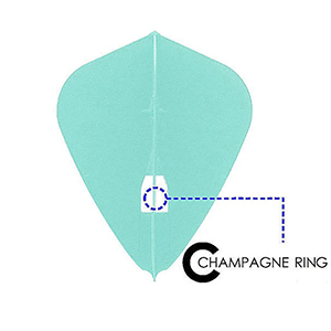 cring lstyle kite champagne cap cup flight dart shaft