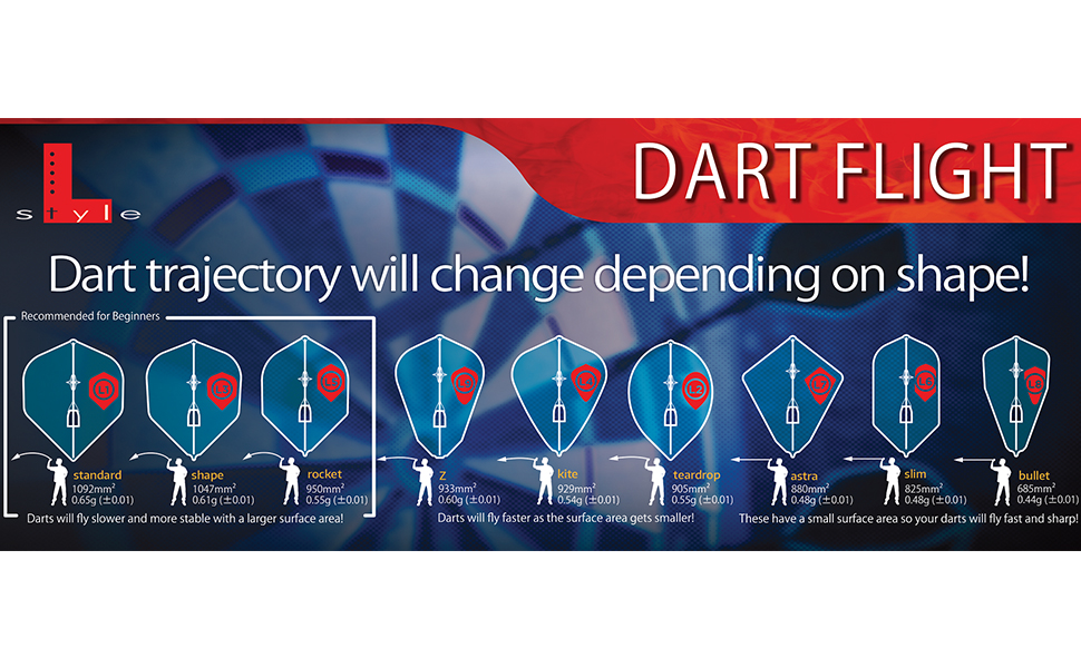dart flight lstyle shape champagne pro ring cap throw darts board