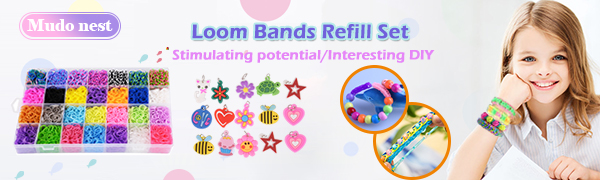 11,860+ Rubber Bands Refill Loom Set: 11,000 Premium Rubber Loom Bands