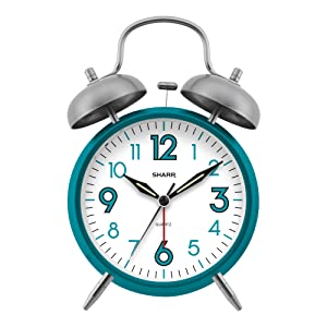 Sharp Twin Bell Alarm Clock loud alarm peakeep  timex big ben analog retro