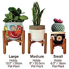 stand up house plants pot rack pot holder wood decor