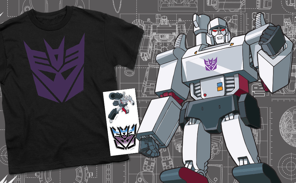 Transformers Decepticon Logo Youth T Shirt & Stickers