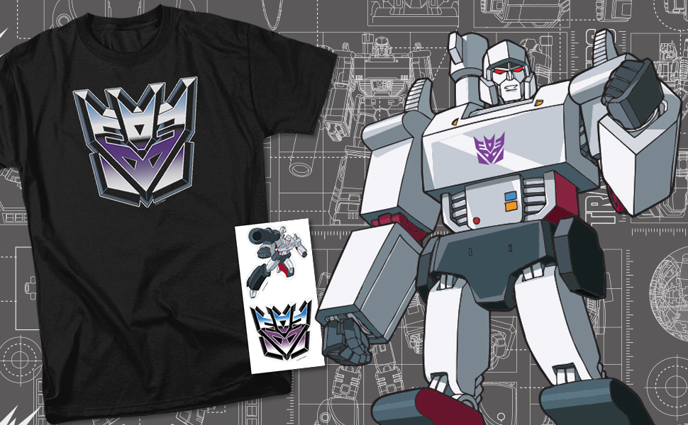Transformers Decepticon Airbrush Logo T Shirt & Stickers