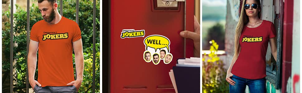 impractical jokers logo t shirt; impractical jokers sticker