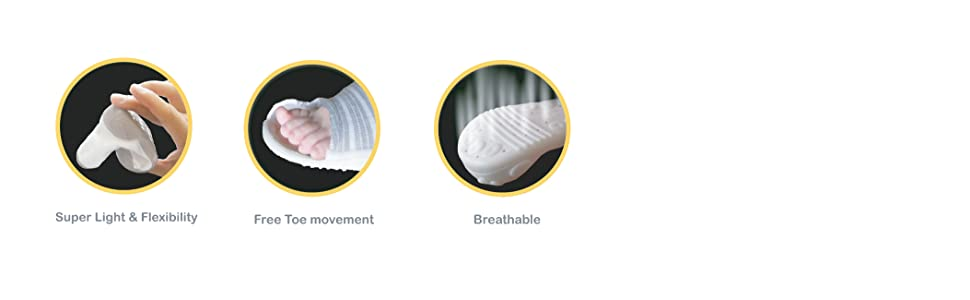 Super Light & Flexibility Free Toe Movement Breathable