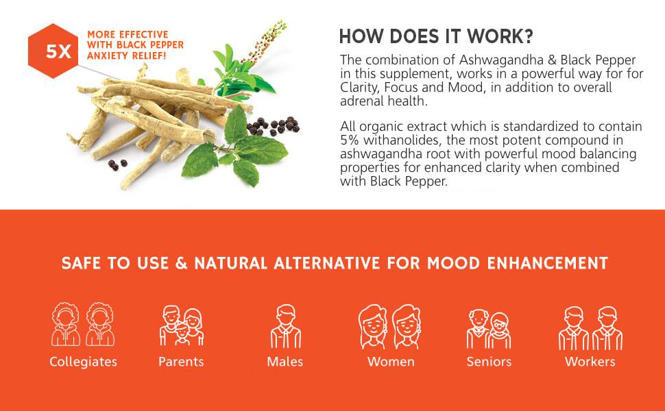 ashwagandha capsules pills supplement