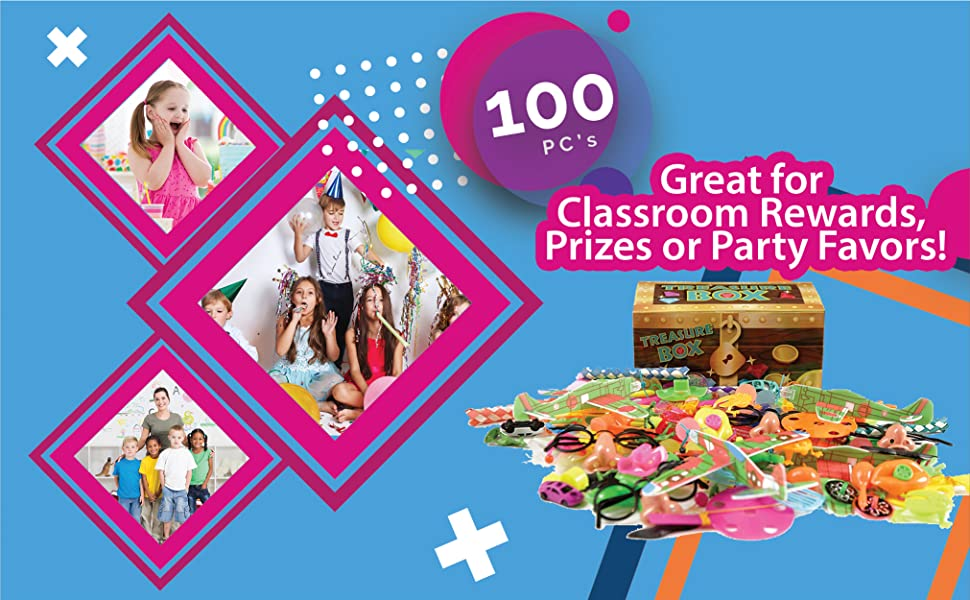 Great for Classroom Rewards, Prizes or Party Favors.