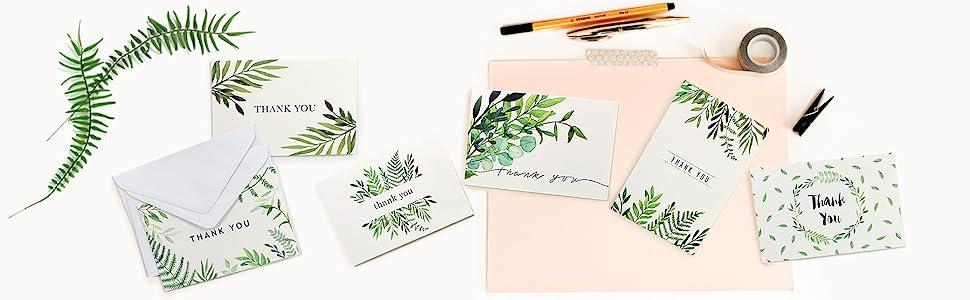 Thank you card blank gratitude cards thank you notes thank you cards wedding thank-you cards