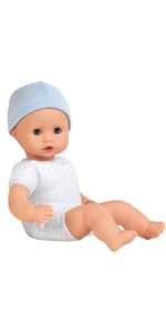 blue boy baby doll naked without clothing muffin to dress