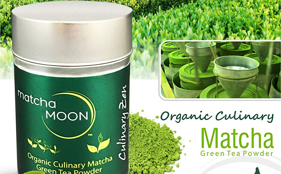 Matcha Moon Culinary Zen quality culinary-grade USDA organic matcha green tea powder 100g tin