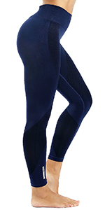 women yoga leggings blue
