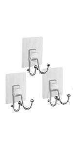 Removable Adhesive Hooks Wall Hanger 3PCS