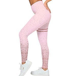 high waist yoga leggings pink