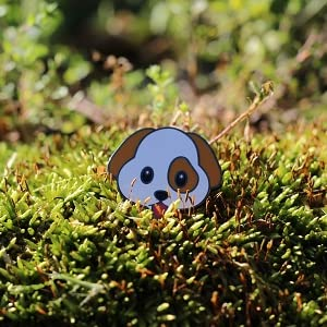 Real sic - dog - puppy - dogs  - enamel - lapel - pin - pins