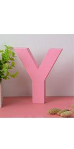 wooden letter pink