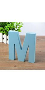 wooden letter blue