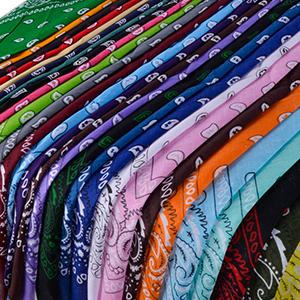 Multicolor bandanas for use