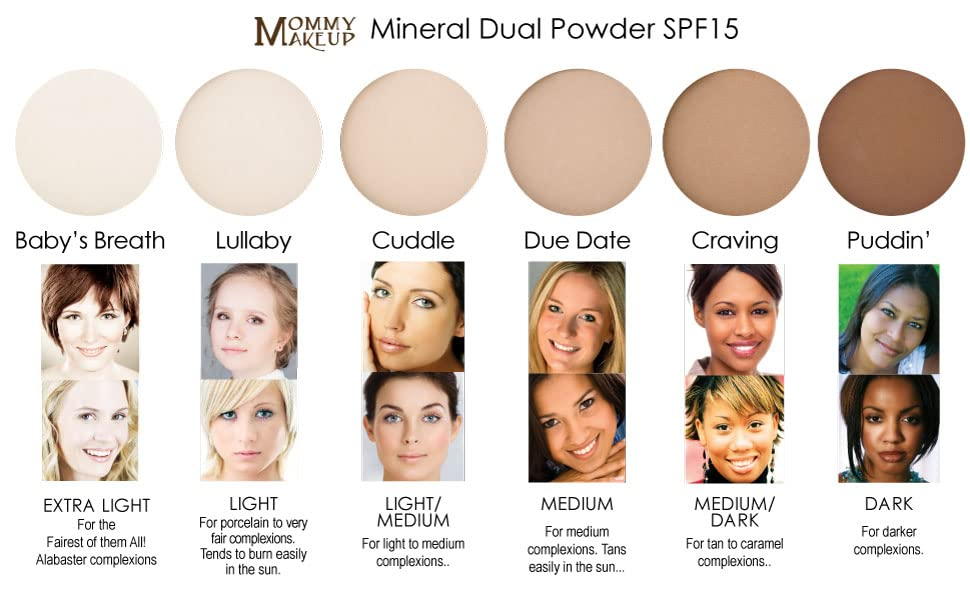 MINERAL DUAL POWDER Pressed mineral foundation Comes in a range of 6 shades, from light to dark