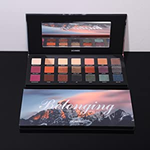21 colors eyeshadow with mirror