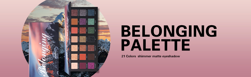 21 shades eyeshadow palette