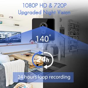 1080P HD & 720P Upgraded Night Vision