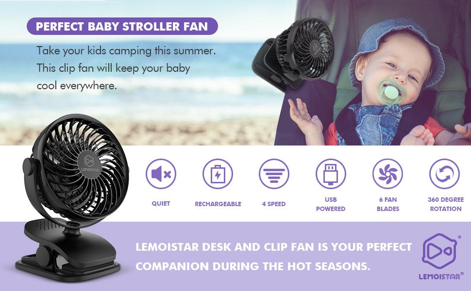 baby stroller clip on fan