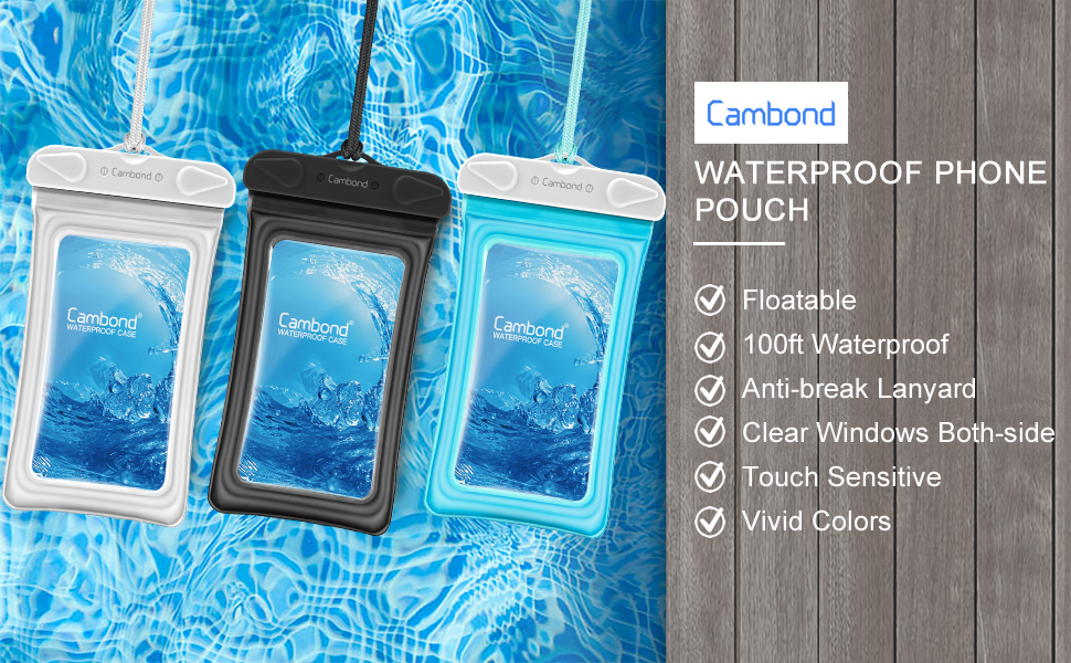 waterproof phone pouch cambond