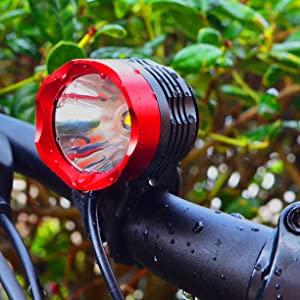 Water Resistant Bike Head Light Weatherproof