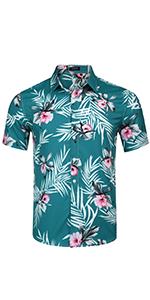 Men's Floral Button Down Shirt